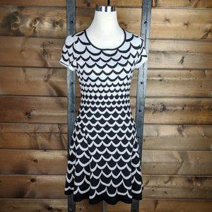 CeCe by Cynthia Steffe Scallop Knit Flare Dress -S